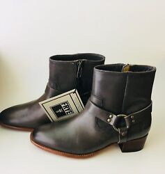 Women's Frye Dara Short Harness Boot Charcoal Color Size 6/fry Size 6 Boots