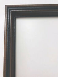 Antique Victorian Walnut Wood Fine Art Painting Picture Primitive Country Frame