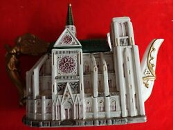 Fitz And Floyd Collectible Places Of Worship Notre Dame Cathedral Teapot
