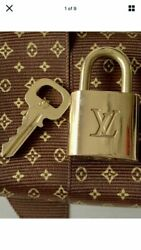 LOUIS VUITTON: Metal quot;LVquot; Lock amp; Key Set 1 Replated To Look New $29.00