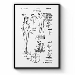 Vintage Barbie Doll Toy Patent Old Style Wall Art