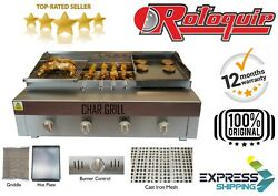 Commercial Chargrill With Griddle Natural Gas Or Lpg Charcoal Flame Grill Bbq