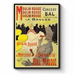 Moulin Rouge Parisfrench Vintage Advert Wall Art