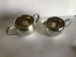 Antique Simpson Hall And Miller Sterling Silver Creamer And Sugar 5.3 Ozt