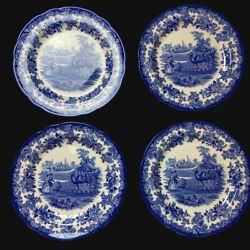 Spode Blue Room Collection The Camel Enclosure Dinner Plate Englandset Of 4 New