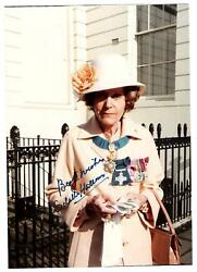 Odette Hallowes. British Wwii Secret Agent. Color 5x7 Signed Photo With Letter
