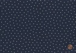 100% Cotton Fabric Fabric Traditions Navy Blue with Off White Stars Allover BTY