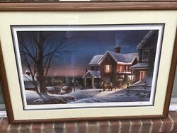 """Framed Limited Sold Out Edition """"house Call""""by Terry Redlin, Signed And Numbered"""
