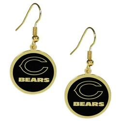 Chicago Bears Gold Tone Earrings [new] Nfl Ear Ring Lace Jewelry Stud