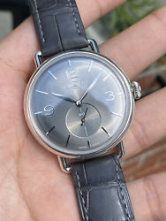 Bell And Ross Vintage Wwi Argentium Ruthenium Grey Dial Brww1-70-ag