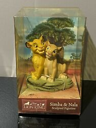 Vintage Disney The Lion King Simba And Nala Sculpted Figurine 111793 Mip