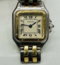 Panthere Steel / Gold Quartz 112000r Womenand039s Watch