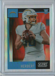 2020 Panini Chronicles Score Justin Herbert Rookie Rc 443 Silver Prizm Chargers