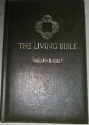 The Living Bible Paraphased Green Padded Leather Cover Copyright 1971