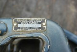 Evinrude Johnson 1950and039s 18hp Tiller Handle Fastwin 50s Outboard Boat Motor
