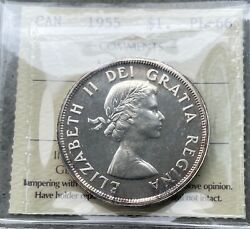 1955 Arnprior Canada 1 Dollar Silver Coin One Dollar Proof Like - Iccs Pl 66