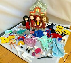 Lot 4 Eden Madeline Dolls + Huge Lot Of Clothes Shoes Sports Accessories And More