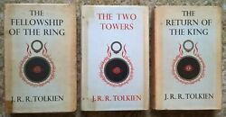 Lord Of The Rings Tolkien First 1st Edition Set Fellowship Two Tower Return King