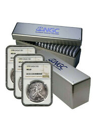 1986-2019 Silver Eagle Set ✪ Ngc Ms-69 ✪ 34 Coin Set Brown Label Coins ◢trusted◣