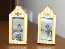 Vintage Greek Toy Soldiers Epa Aohna And Sentry Boxes Made In Greece - Pair Of 2