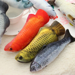 Sleeping Toy molar Cat Cat Toys Pet Products Artificial Plush Fish Cat Supplies