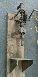 Antique Union Switch And Signal Usands Railroad Timber Drill Cast Iron Vintage