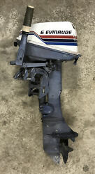 Evinrude 6 One Cylinder 2 Cycle Boat Motor Model 6704m For Parts Or Repair