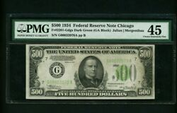 1934 500 Five Hundred Dollar Note Pmg 45