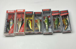 7- Vintage Rapala Fishing Lures Nos Shad Rap Rs Jointed Fat Rattlin Suspending