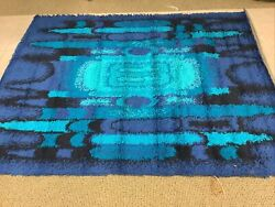 Real Mid Century Danish Modern Mcm Taepper Rya Rug 5andrsquo X 7andrsquonever Walked On Read