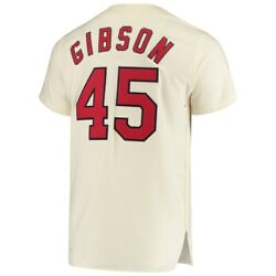 Mitchell And Ness St. Louis Cardinals 1964 Bob Gibson Authentic Wool Cream Jersey