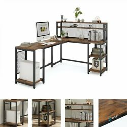 67 Computer Desk Vintage And Industrial Table Workstation With Hutch And Shelves