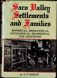 Saco Valley Settlements And Families History Biography Genealogy Of Maine Families
