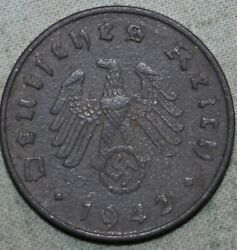 1942 A Nazi Germany 10 Reichspfennig Swastikasand039 91andcent Tracked Shipping