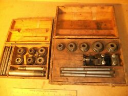 2 Valve Seat Reseating Kits In Wood Boxes. Sioux Cutter Set With Vice And Hellyer