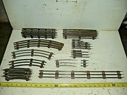 Old Vintage O27 Gauge Lionel Train Track Lot 25 Straights And Curves Misc. Sizes