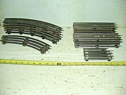 Old Vintage O27 Gauge Lionel Train Track Lot 8 Curve And 13 Straight Misc. Sizes