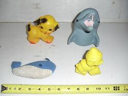 Old Vintage Baby Childs Toy Flipper Bath Squeaky Dog Whale Squeeky Squeaker
