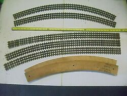 Old Vintage O O27 Gauge 3 Rail Train Track Lot 5 Pieces Wooden Ties Gargraves