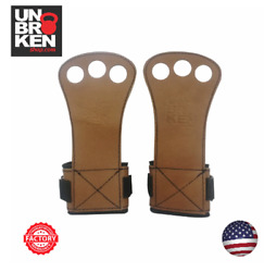 Hand Grips Real Leather With Strong Wrist Support Comp. Bear Komplex Gym