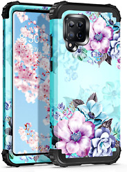 Casetego Compatible With Galaxy A42 5g Casefloral Three Layer Heavy Duty Sturdy