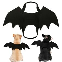 Halloween Dog Cat Cosplay Funny Clothes Puppy Black Bat Wings Costume Kitten Pet