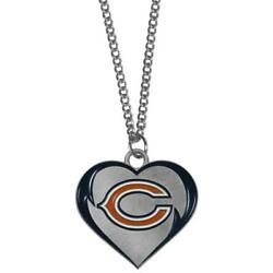 Chicago Bears Heart Shaped Necklace [new] Nfl Neck Lace Chain Jewelry