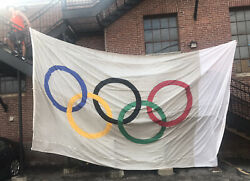 Huge Olympic Flag 20andlsquo X 12andrsquo Rings Custom Made Wincraft Usa Giant Large Big