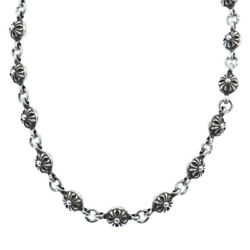 Chrome Hearts Cross Ball Chain Necklace Silver 30 Inches Secondhand Degree
