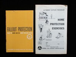1956 And 1961 Civil Defense Nuclear Attack Pamphlets