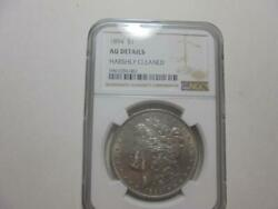 1894 P Morgan Silver Dollar Harshly Cleaned Au Details Very Rare Coin Nice Price