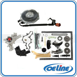 Fit Ford 4.0l Timing Chain Kit Water Pump Fan Clutch Thermostat Housing Assembly