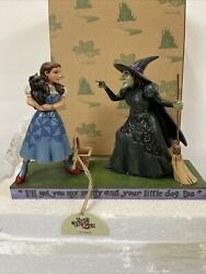 Jim Shore Wizard Of Oz Iand039ll Get You My Pretty Dorothy And Wicked Witch Mib