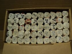 25 Lincoln Wheat Cent Box 50 Solid Date Rolls P/d/s 46 Diff Dates/mm 1919-1958